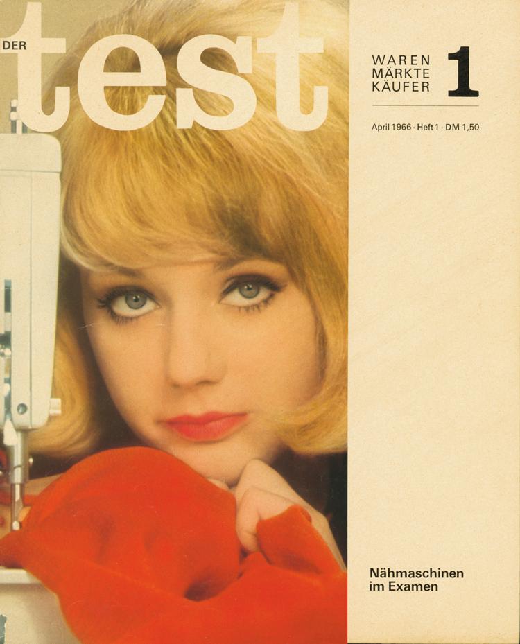 """Zu viel Frau und zu wenig Nähmaschine? Das erste Cover von """"test"""" geriet schnell in die Kritik."""