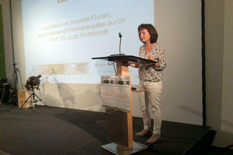 Laudatorin Annette Floren.