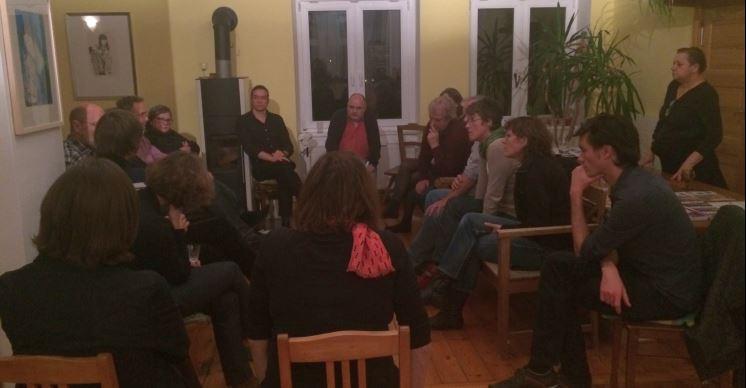 Lebhafte Diskussionrunde: Einige Teilnehmer sind selbst schon von der Gentrifizierung betroffen.