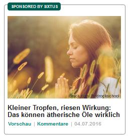 Sanfte Werbung für sanfte Medizin von Sixtus.