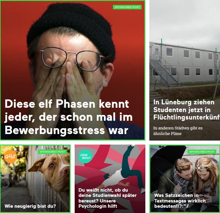 "Die Native-Advertising-Anzeigen heißen bei Bento ""Sponsored Posts""."