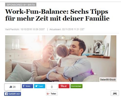 Werbung? Nicht doch: Work-Fun-Balance!